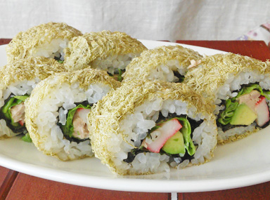とろろ昆布の巻き寿司