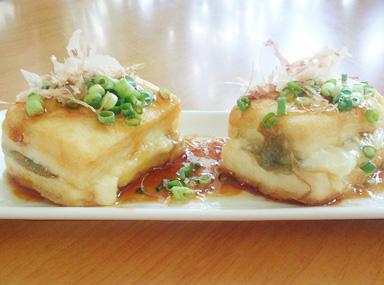 チーズ&とろろ昆布入り豆腐ステーキ