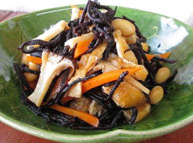 長ひじきと大豆の煮物