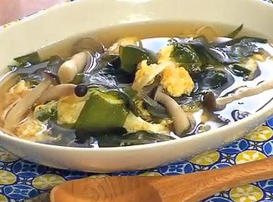 わかめとキノコのスープ