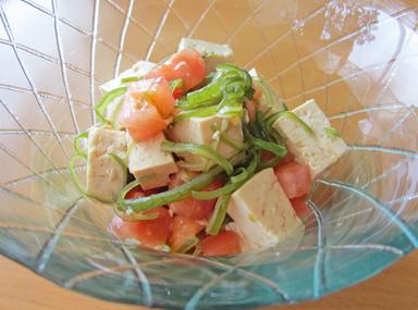 けんざんと豆腐の中華風サラダ
